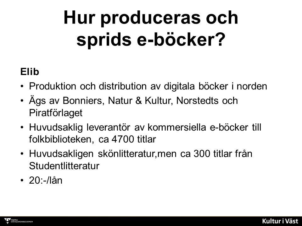Hur produceras och sprids e-böcker.