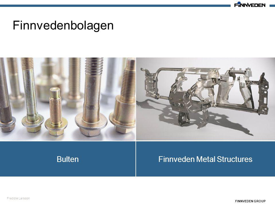 Freddie Larsson FINNVEDEN GROUP Finnvedenbolagen Finnveden Metal StructuresBulten