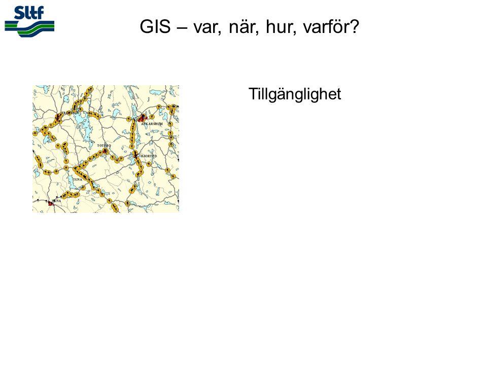 GIS – var, när, hur, varför? Tillgänglighet