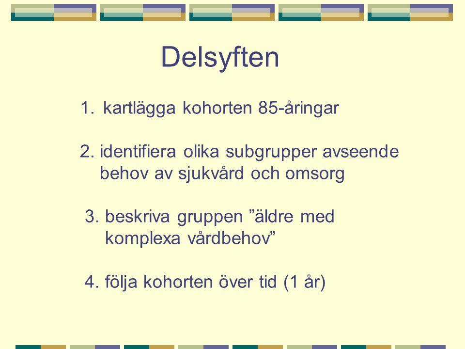 Flera faser Postenkät Hembesök (arb.ter.) Mott.besök (ssk + läkare) Uppföljning, 1 år HB + MB