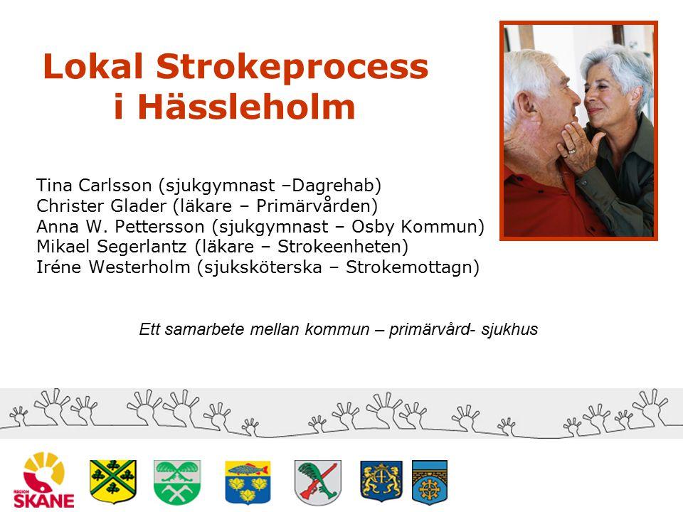 Syfte att skapa en sammanhållen vårdkedja för stroke (sjukhus-kommun-primärvård) med patienten i fokus