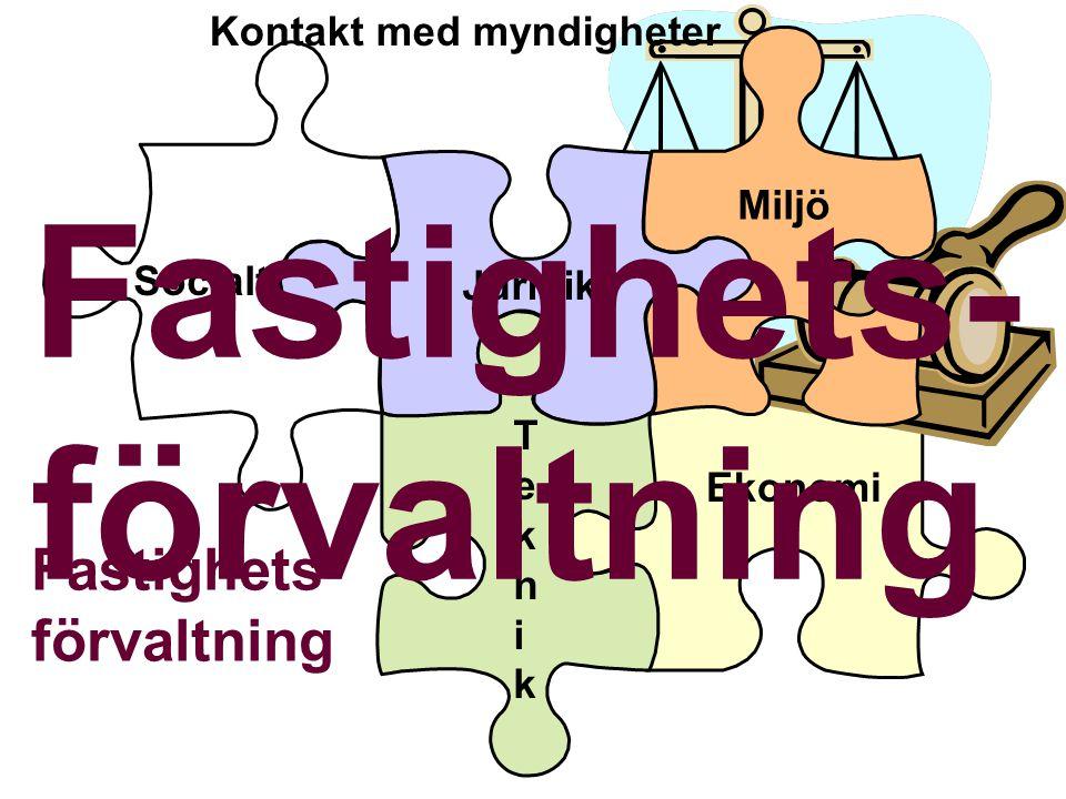Juridik Fastighets- förvaltning Jordabalken Fastighetsbildningslagen Anläggningslagen Hyresrätt - Bostadsrätt