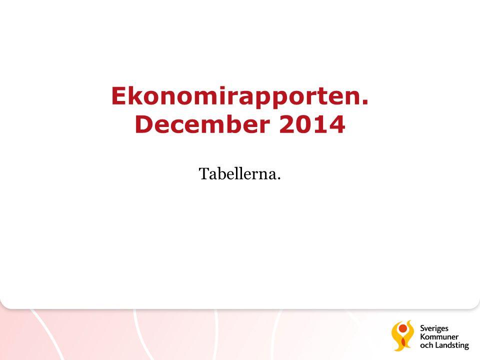 Ekonomirapporten. December 2014 Tabellerna.