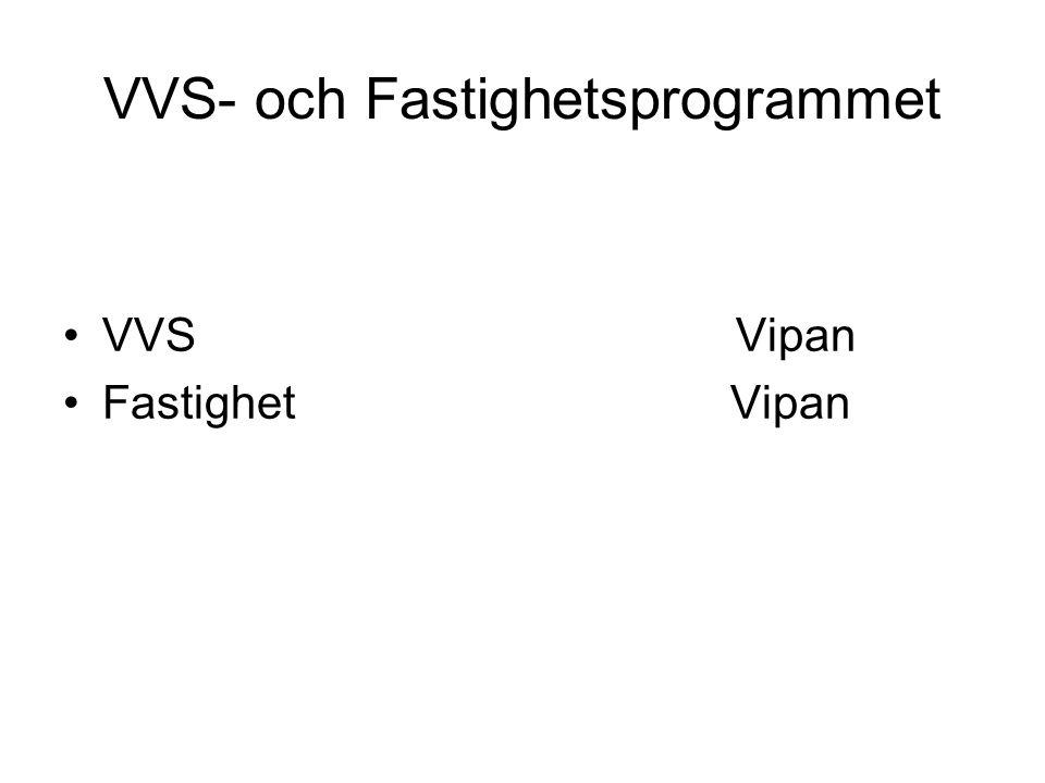 VVS- och Fastighetsprogrammet VVS Vipan Fastighet Vipan