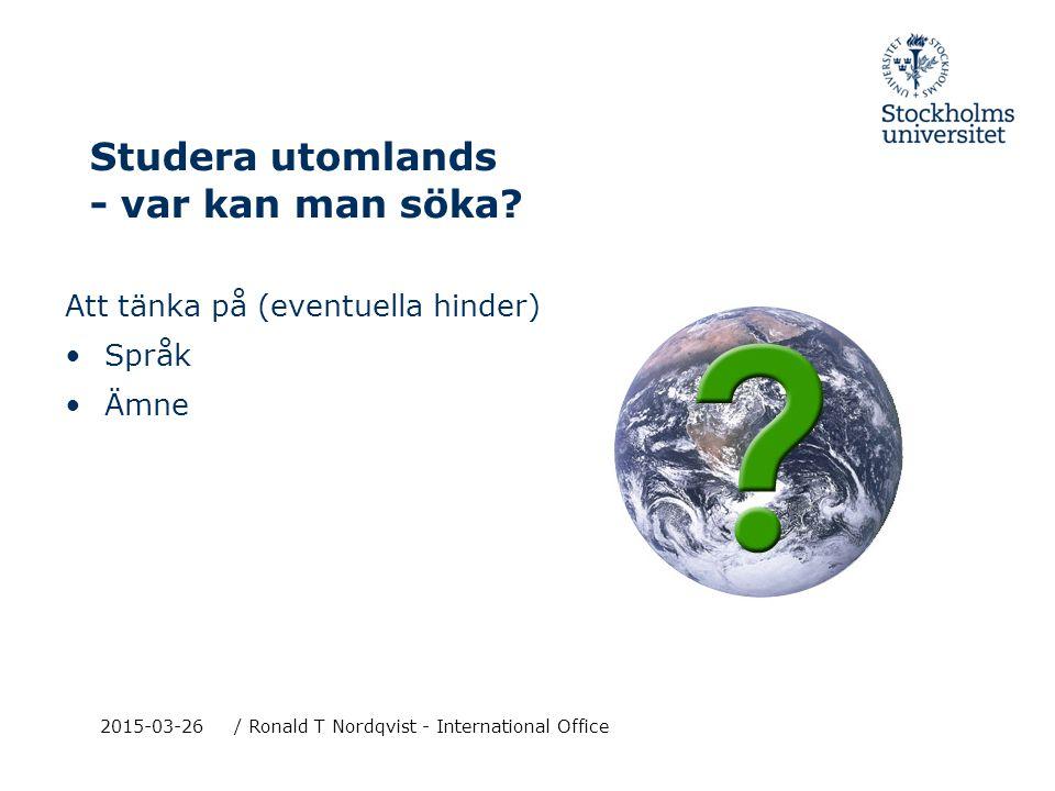 2015-03-26/ Ronald T Nordqvist - International Office