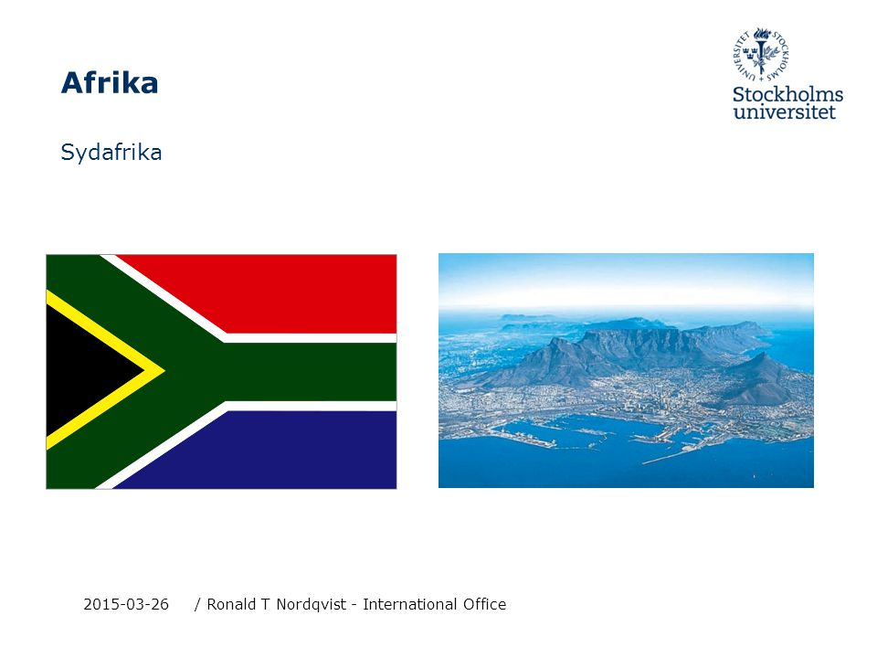 Afrika Sydafrika 2015-03-26/ Ronald T Nordqvist - International Office