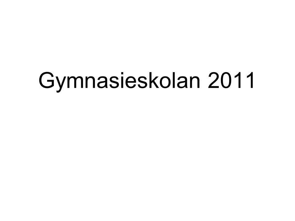 Nya regler för högskola från ÅR 2010 Godkänt i svenska A och B/svenska som andraspråk, engelska A och matematik A Högskolorna ska själva få bestämma urvalsgrunden för en tredjedel av platserna Införande av meritpoäng Ny platsfördelning/nya kvotgrupper