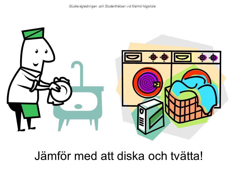 Jämför med att diska och tvätta! Studievägledningen och Studenthälsan vid Malmö högskola