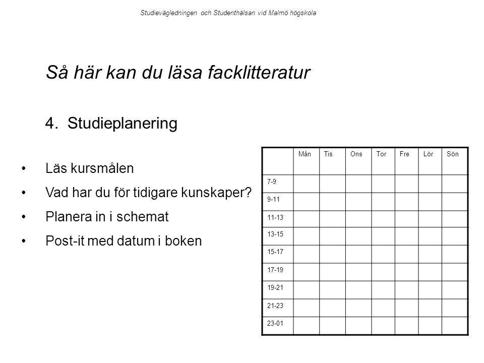 Så här kan du läsa facklitteratur 4.