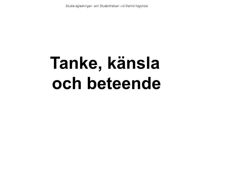 Tanke, känsla och beteende Studievägledningen och Studenthälsan vid Malmö högskola