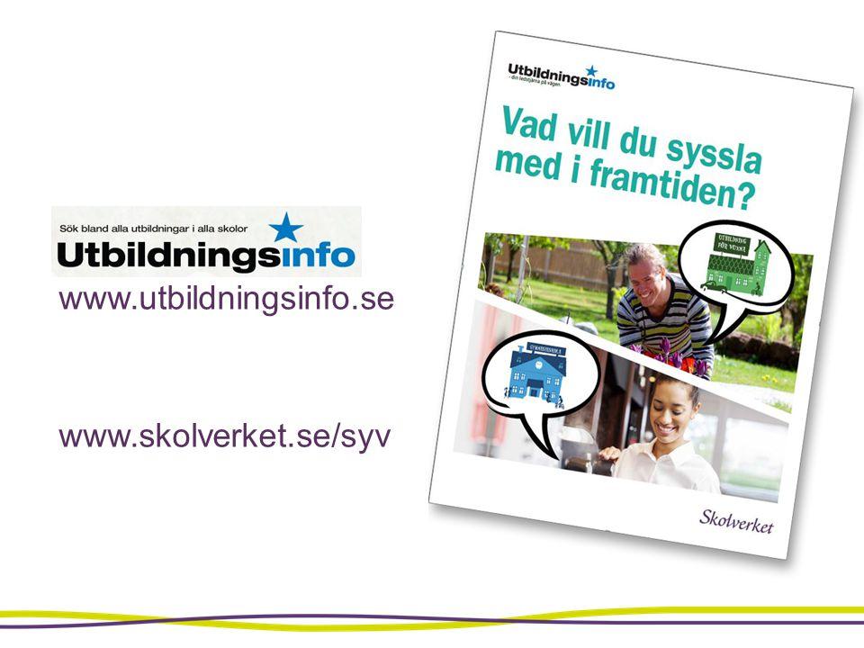 www.utbildningsinfo.se www.skolverket.se/syv