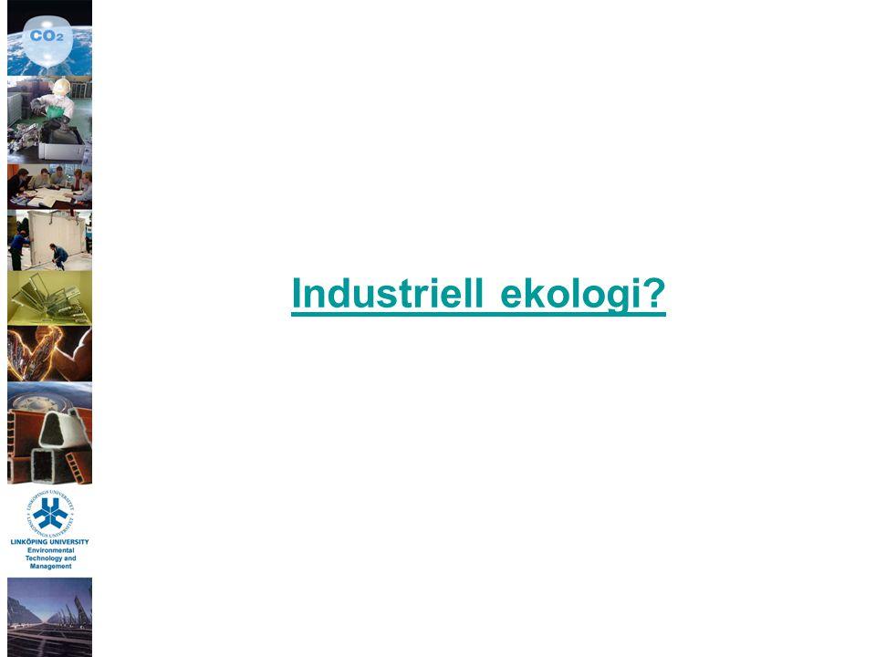 Vad är Industriell ekologi.