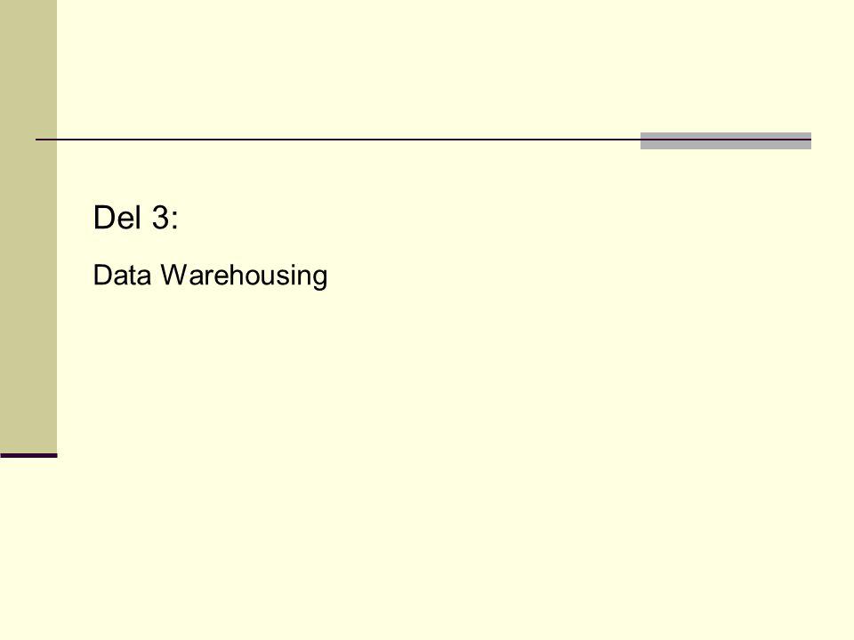 Del 3: Data Warehousing