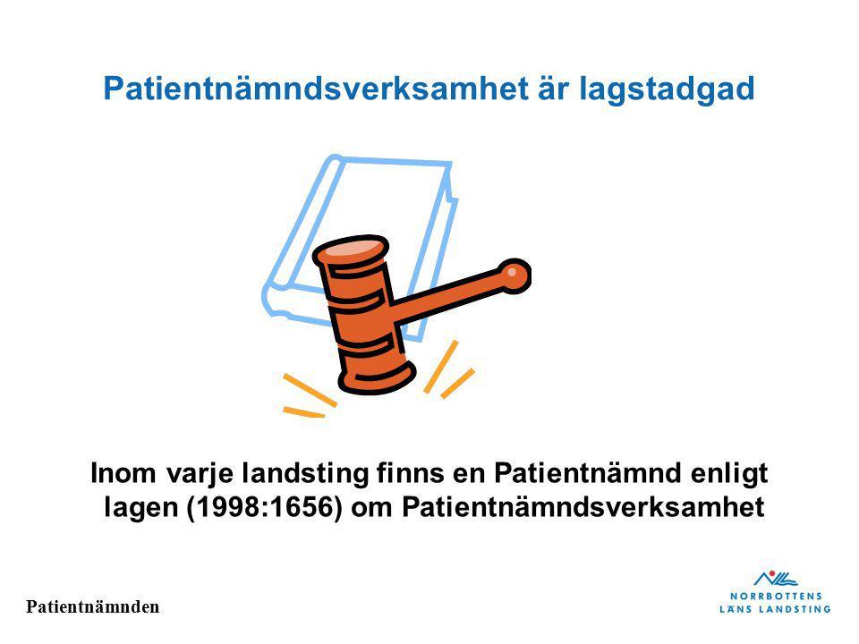 Patientnämnden Ärendeutveckling/instans Norrbotten