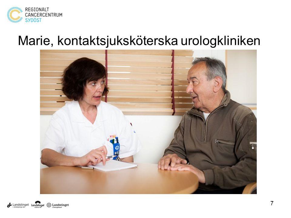 Marie, kontaktsjuksköterska urologkliniken 7