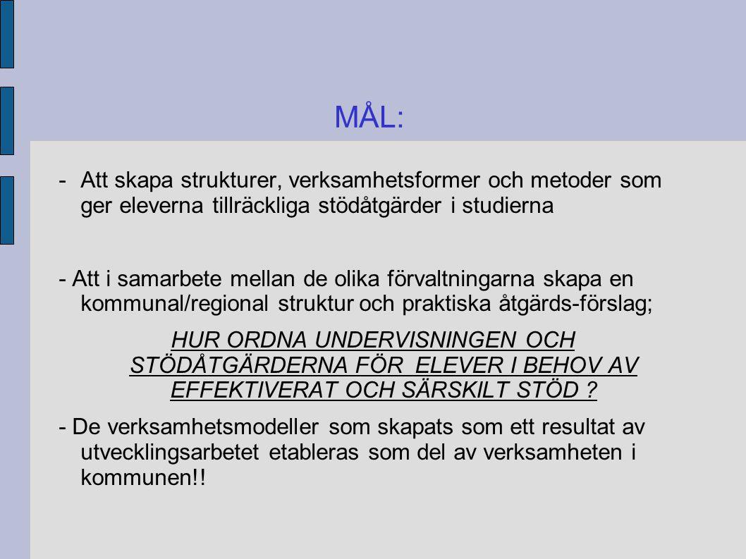 MÅLEN UR ELEVENS SYNVINKEL 1.FÖREBYGGANDE AV PROBLEM I STUDIERNA 2.