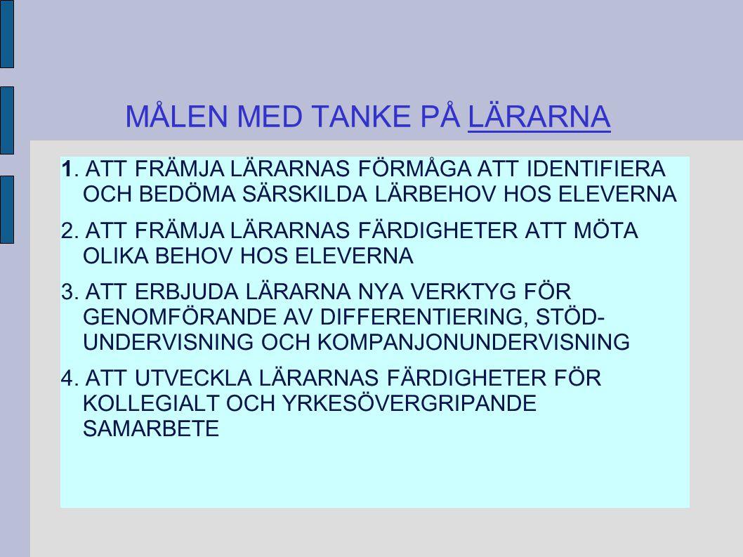 MÅLEN MED TANKE PÅ LÄRARNA 1.