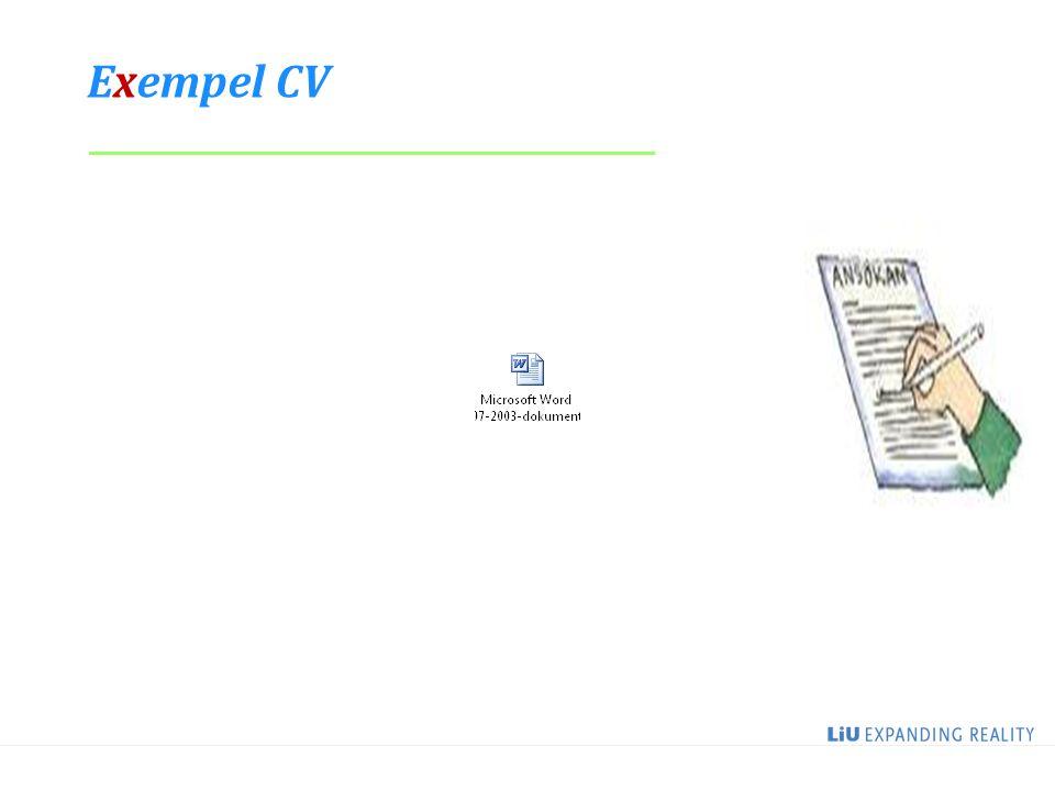 9 Exempel CV _____________________________________