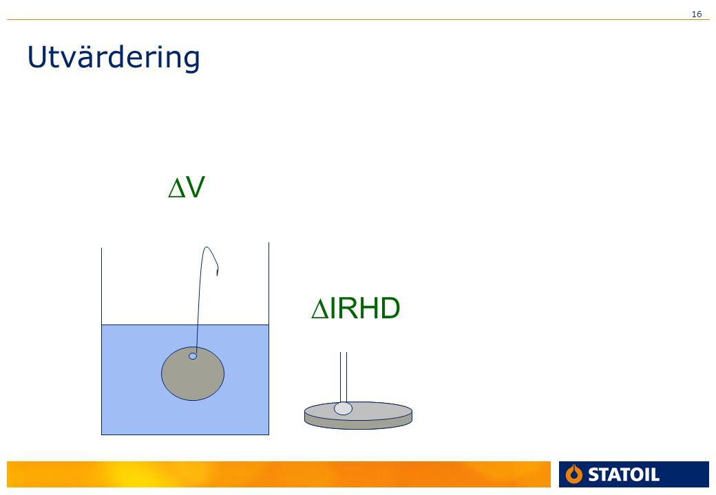 16  IRHD Utvärdering VV