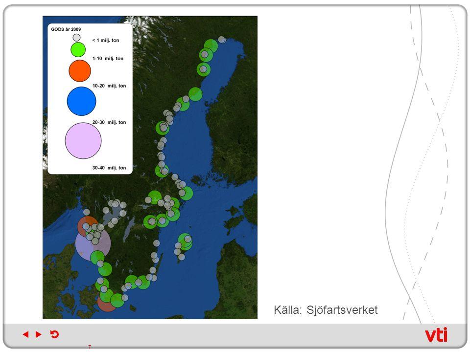 Svensk transportpoltik Övergripande mål är att säkerställa en samhällsekonomisk effektiv och långsiktigt hållbar transportförsörjning för medborgare och näringsliv i hela landet I SIKA:s uppföljning av de sex transportpolitiska delmålen 2009 konstateras att transportkvalitetsmålet inte nås fullt ut och att det krävs ytterligare åtgärder för att uppnå miljömålen.