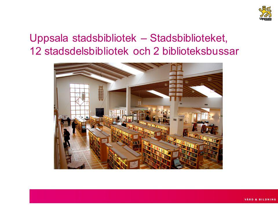 Uppsala stadsbibliotek – Stadsbiblioteket, 12 stadsdelsbibliotek och 2 biblioteksbussar