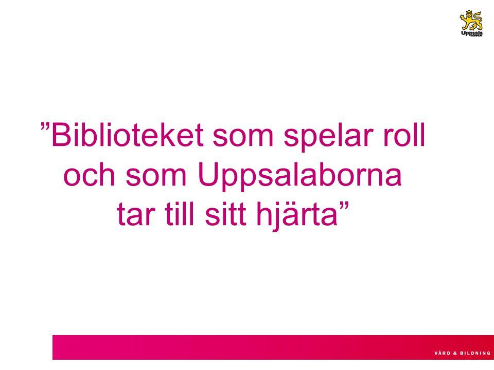 """""""Biblioteket som spelar roll och som Uppsalaborna tar till sitt hjärta"""""""