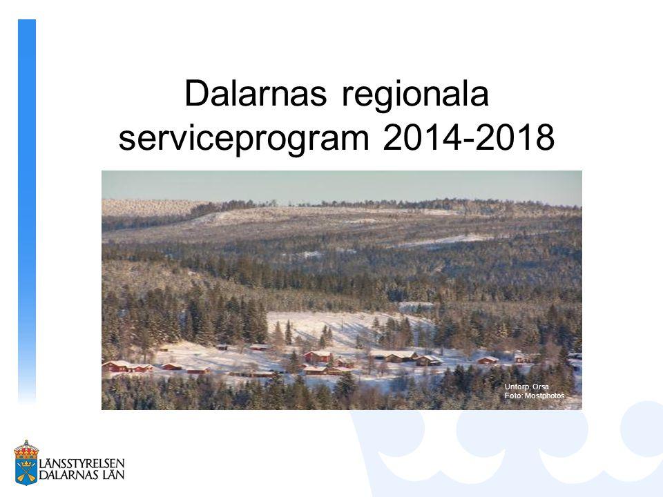 Ur Tillväxtverkets riktlinjer: Ramprogram skrivs nu och insatserna uppdateras varje år Kriterier för stöd till kommersiell service Hållbarhet – jämställdhet, integration, mångfald och miljö Lämnades14 mars 2014 Började gälla 1 april 2014