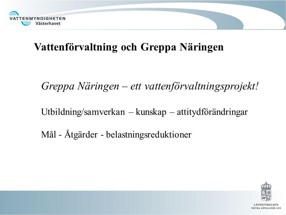 Greppa Näringen – ett vattenförvaltningsprojekt.