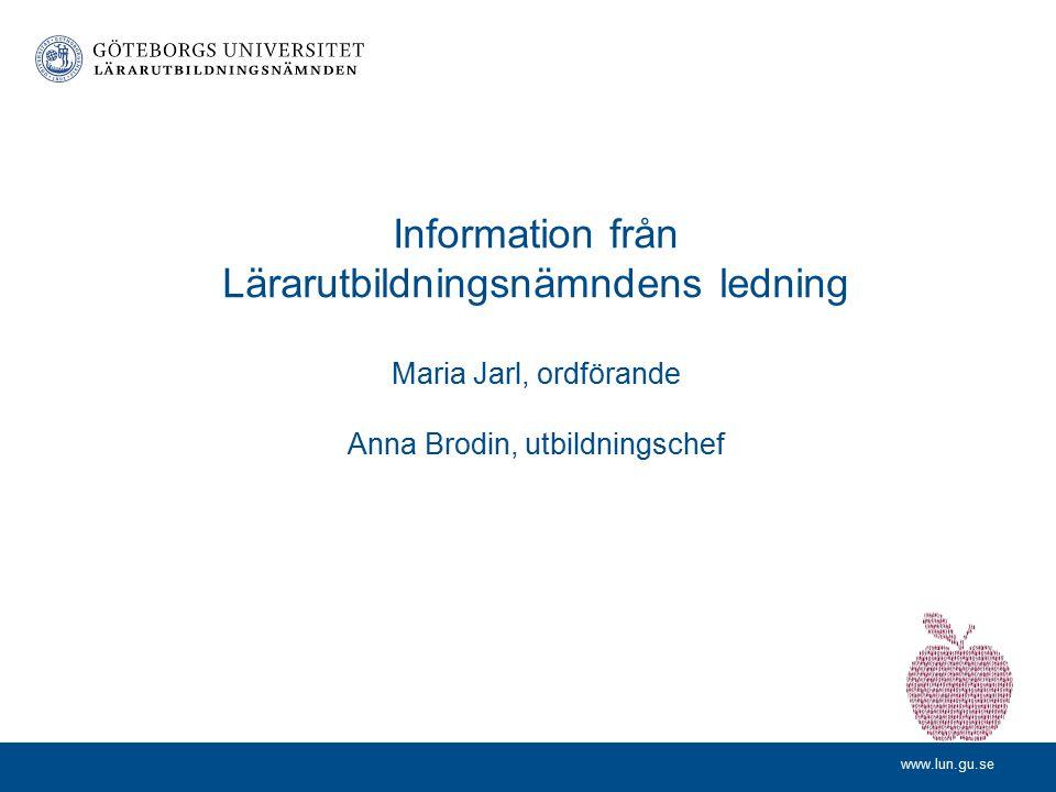 VFU-dag LP11 17 september 2013 Progression i studenternas professionsutveckling och bedömning av lärarprofessionen