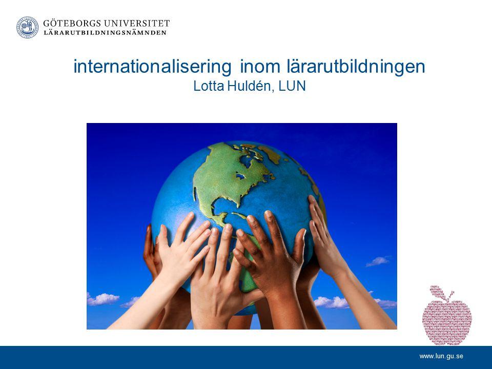www.lun.gu.se Information från Lärarutbildningsnämndens ledning Maria Jarl, ordförande Anna Brodin, utbildningschef