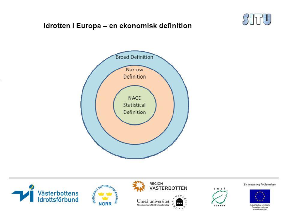 Idrotten i Europa – en ekonomisk definition