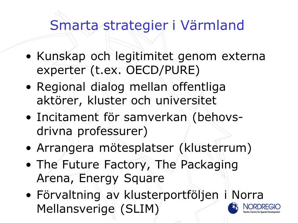 Smarta strategier i Värmland Kunskap och legitimitet genom externa experter (t.ex.