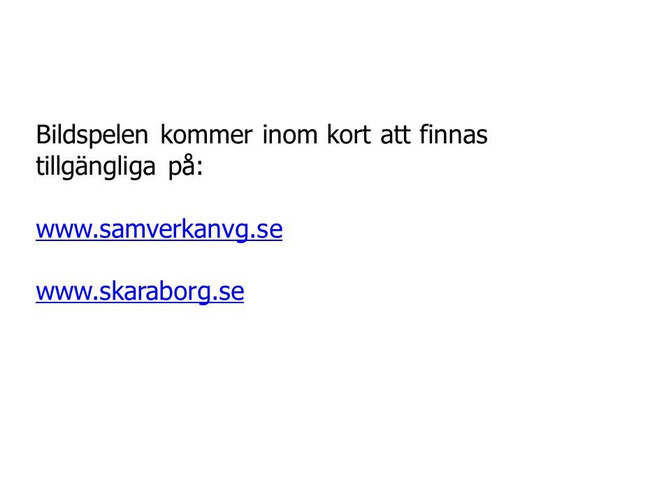 Bildspelen kommer inom kort att finnas tillgängliga på: www.samverkanvg.se www.skaraborg.se