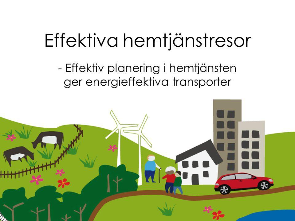 Workshop 13 mars Uppsala Effektiva hemtjänstresor - Effektiv planering i hemtjänsten ger energieffektiva transporter