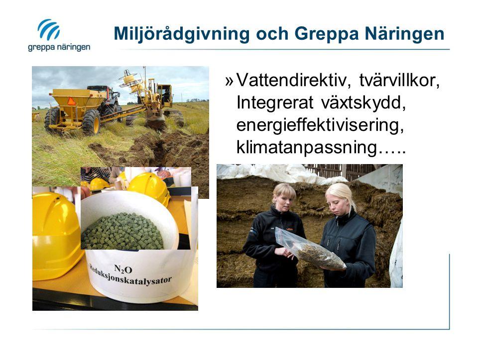 Miljörådgivning och Greppa Näringen »Vattendirektiv, tvärvillkor, Integrerat växtskydd, energieffektivisering, klimatanpassning…..