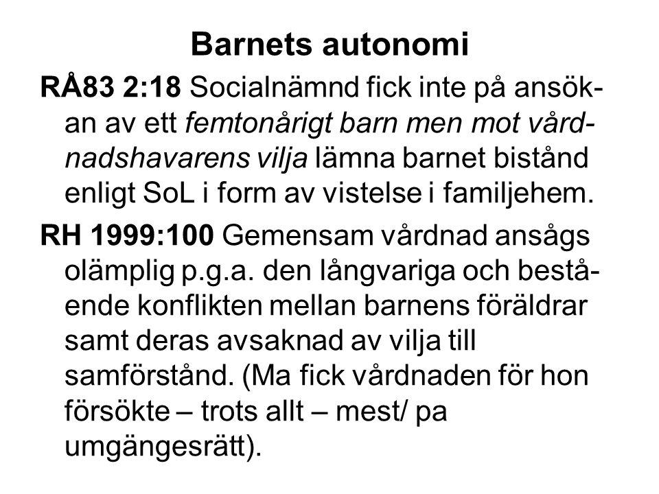 Olsson I mot Sverige Familjehemsplacering enligt LVU av tre barn.