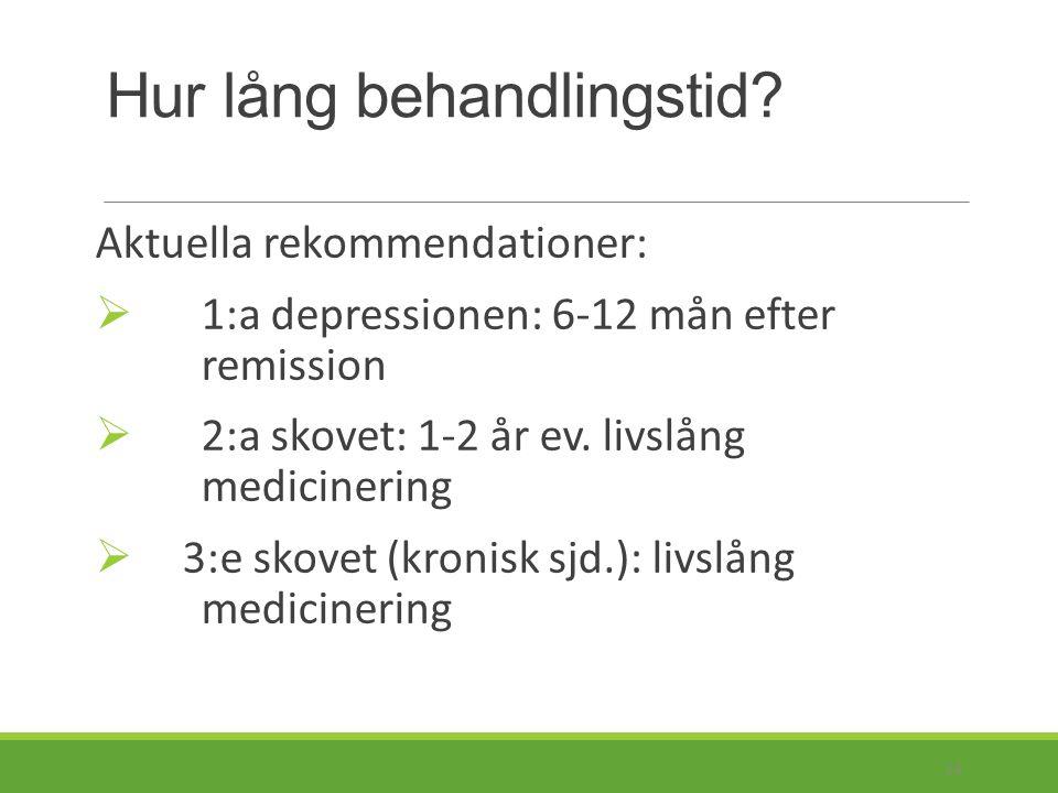 Om otillräcklig effekt trots dosökning: - compliance.