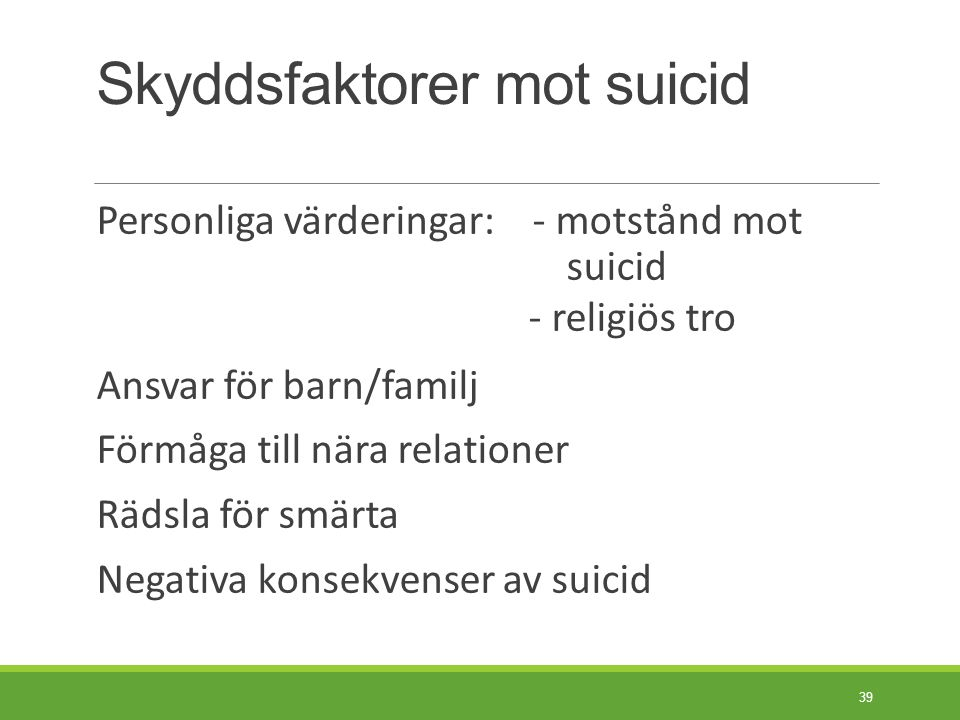 Strukturerad suicidriskbedömning.