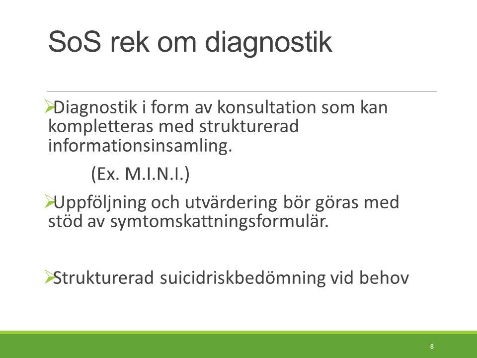 Behandlingsriktlinjer SBU-rapporterna om ångest och depression fr 2004.