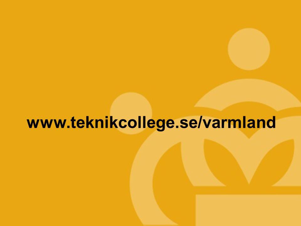 TEKNIKCOLLEGE www.teknikcollege.se/varmland