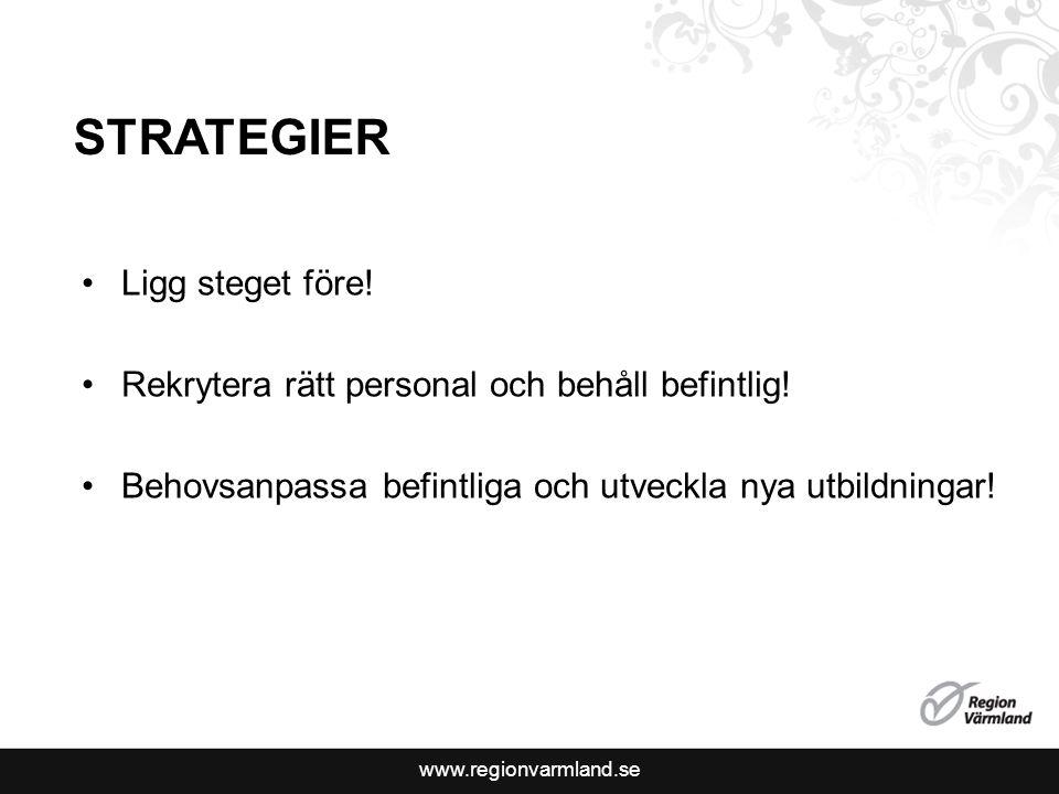 www.regionvarmland.se STRATEGIER Ligg steget före.