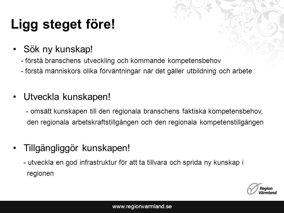 www.regionvarmland.se Ligg steget före. Sök ny kunskap.