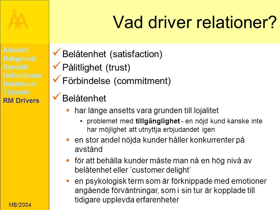 ÅA MB/2004 Vad driver relationer.