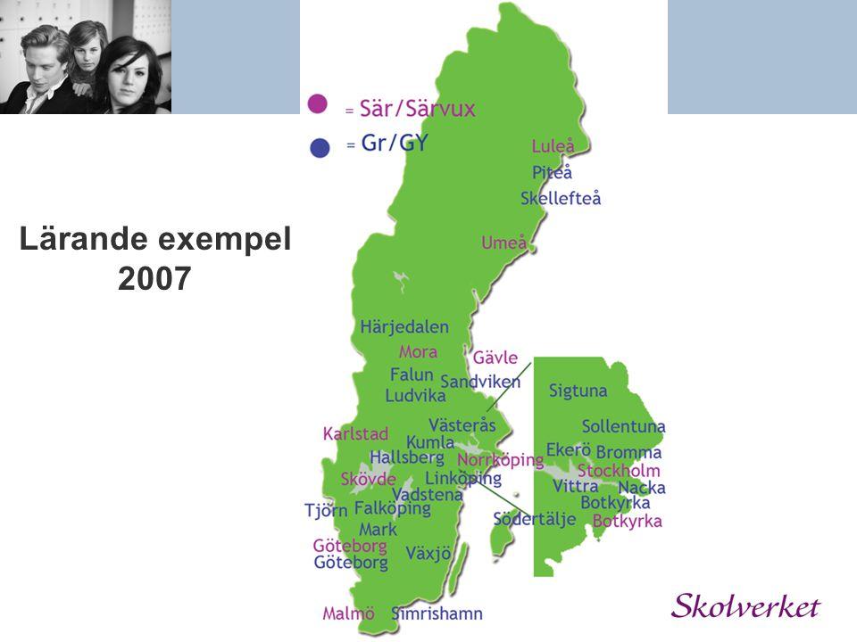 Lärande exempel 2008 EnköpingGävle GöteneHudiksvall KindaKungsör LidköpingLuleå NorrtäljeSundsvall Upplands-BroUppsala VingåkerYstad