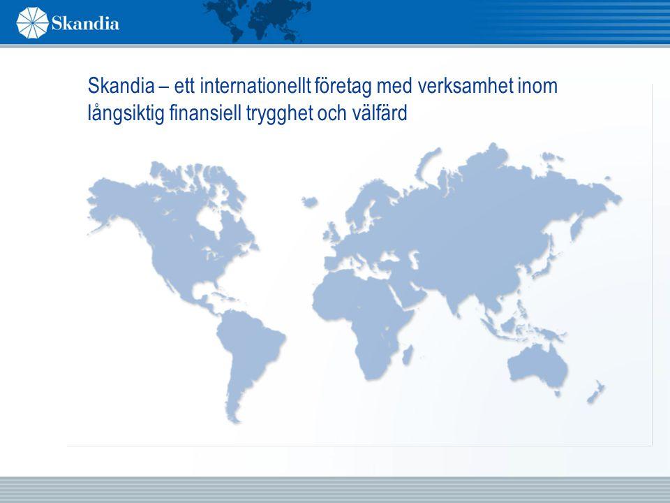 Skandia – ett internationellt företag med verksamhet inom långsiktig finansiell trygghet och välfärd