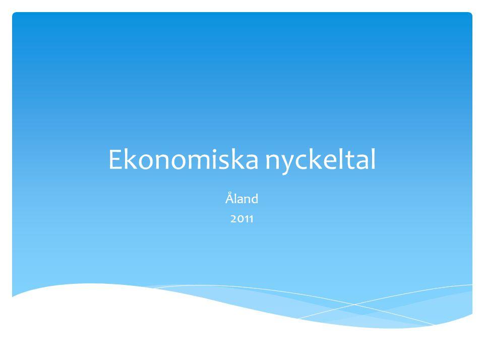 Ekonomiska nyckeltal Åland 2011