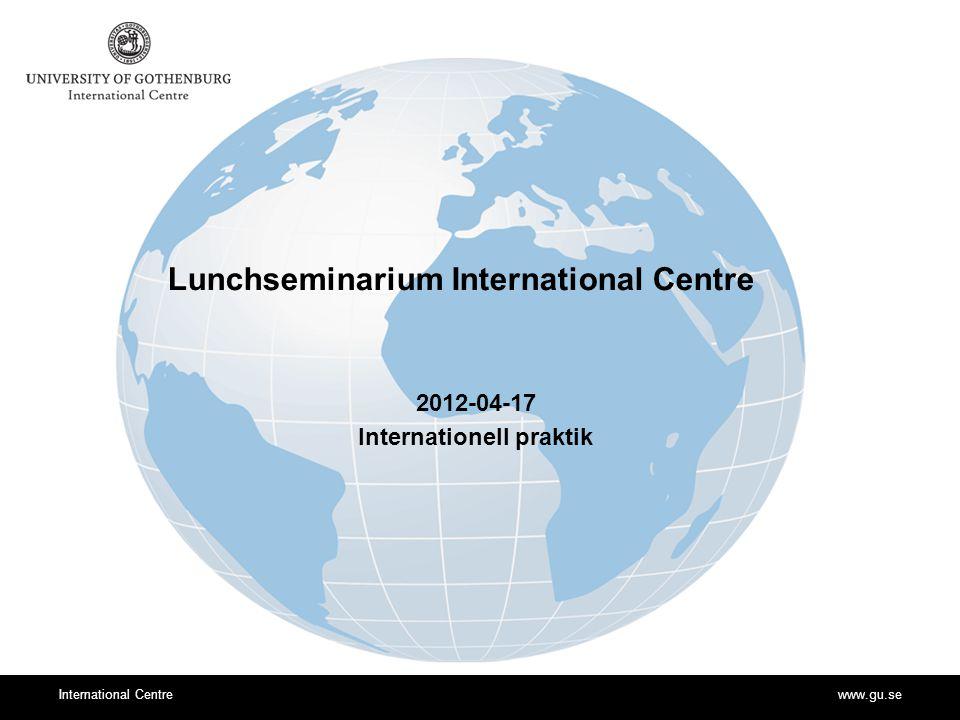 www.gu.seInternational Centre