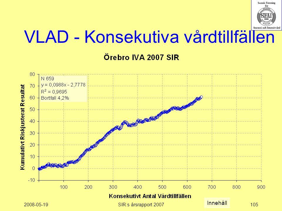 2008-05-19SIR:s årsrapport 2007105 VLAD - Konsekutiva vårdtillfällen Innehåll