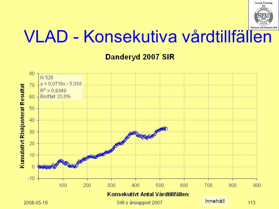 2008-05-19SIR:s årsrapport 2007113 VLAD - Konsekutiva vårdtillfällen Innehåll