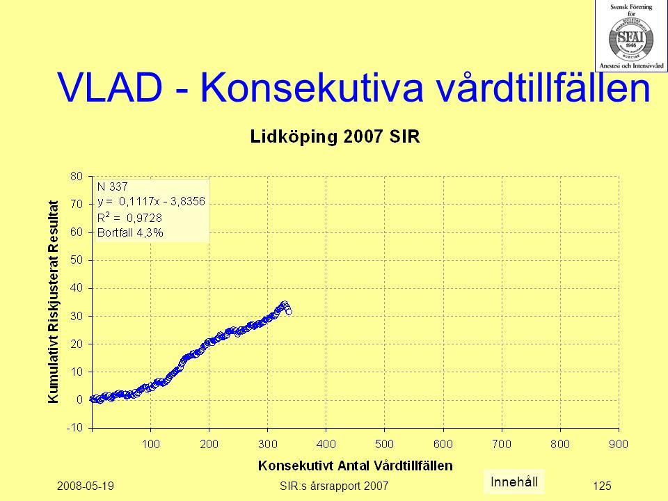 2008-05-19SIR:s årsrapport 2007125 VLAD - Konsekutiva vårdtillfällen Innehåll